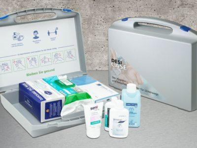 Desinfectieset in een koffer